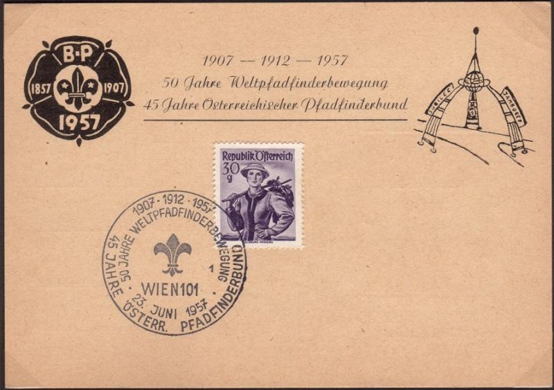 Sonderstempel Österreich, Thema Pfadfinder A00710