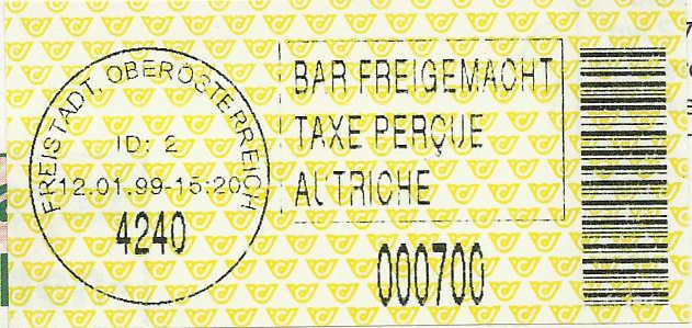Bar-Codes in Österreich Freist10