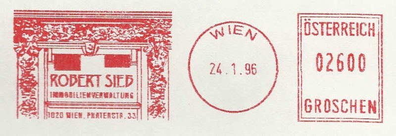 T1000 Freistempel aus Österreich Frs19910