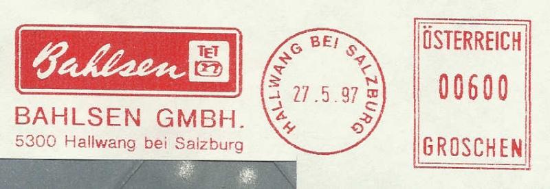 T1000 Freistempel aus Österreich Frs19911