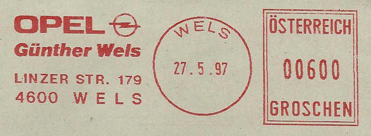 T1000 Freistempel aus Österreich Frs19912
