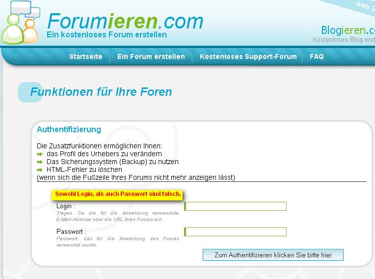 Forumieren-Funktionen Forumi10