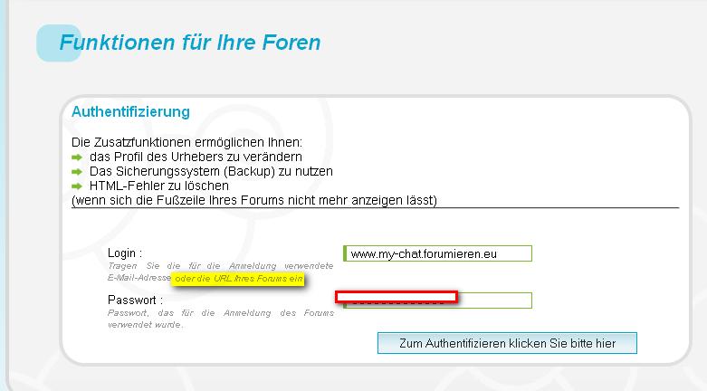 Forumieren-Funktionen Forumi11