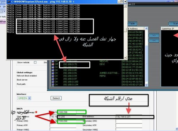 طريقة منع النت كت مع DHCP server 110