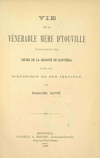 Vie de la Vénérable Mère d'Youville (COMPLET) Mare_d13