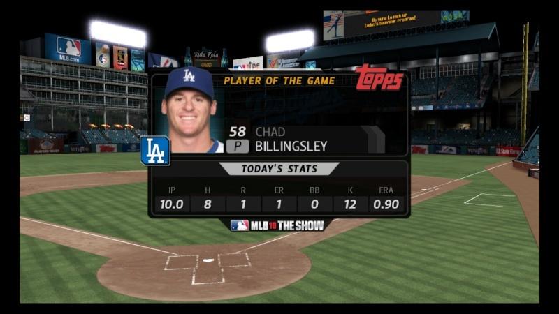 BERRA DIVISIONAL SERIES #1 - Rangers v. Dodgers - July 8 at 9:30p through July 13 at 9:30p - Dodgers Win 3-0 Mlb10_11