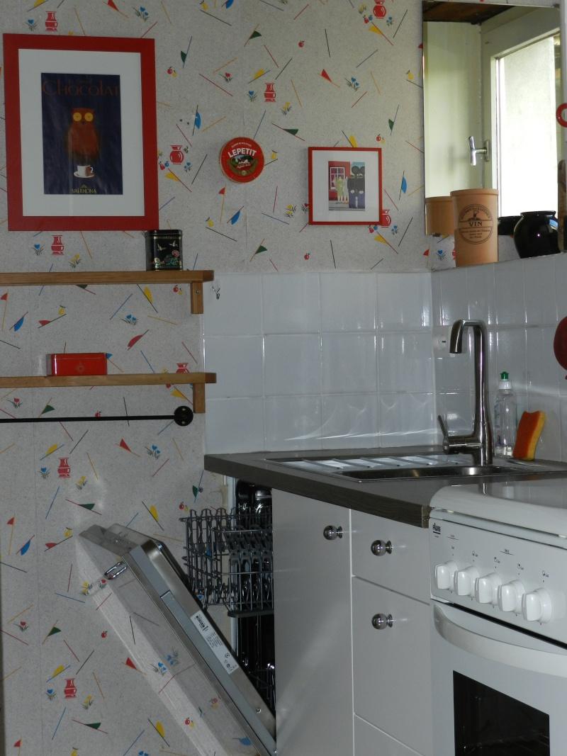 une cuisine étroite dans le gîte Grandv10