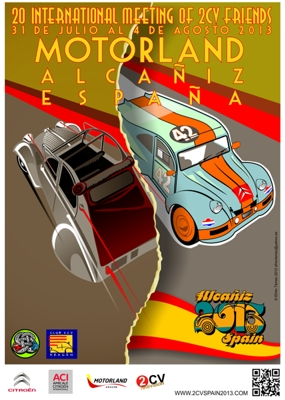 20ème Mondiale 2cv à Alcañiz (Espagne)... Cartel10