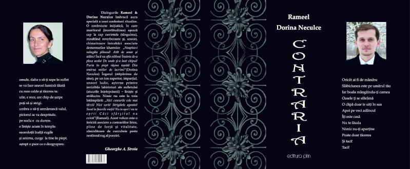 """Lansare de cărţi: """"La marginea tăcerii"""", de Dorina Neculce, """"Vade Mecum"""", Antologie versuri. Şase poeţi contemporani. """"Contraria"""",Rameel şi Dorina Neculce Cop_co10"""