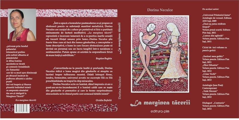 """Lansare de cărţi: """"La marginea tăcerii"""", de Dorina Neculce, """"Vade Mecum"""", Antologie versuri. Şase poeţi contemporani. """"Contraria"""",Rameel şi Dorina Neculce Cop_la10"""