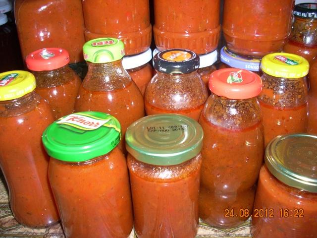 Muraturi in otet si in saramura-alte preparate(conserve din legume) pentru iarna Ketchu13