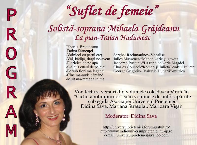 """Noaptea Alba A Strazii Lapusneanu-31 iulie 2010-Seara de muzica si poezie """"Suflet de femeie"""" cu Mihaela Grăjdeanu Progra10"""