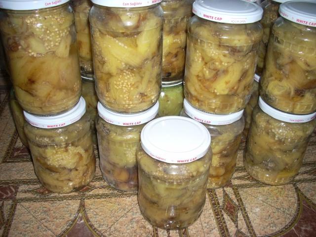 Muraturi in otet si in saramura-alte preparate(conserve din legume) pentru iarna Vinete10