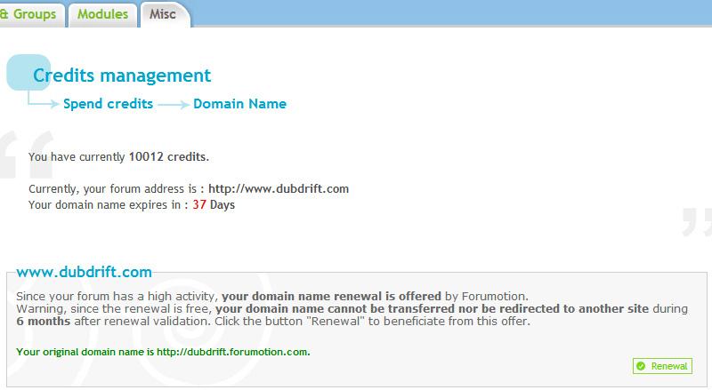 Forum update: Free domain renewal Forum10