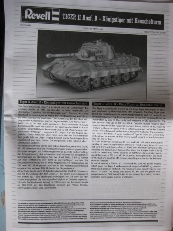 Tiger II Ausf. B Production Turret [Revell, 1/72 ]: FINI! (Ouf!) Photo227
