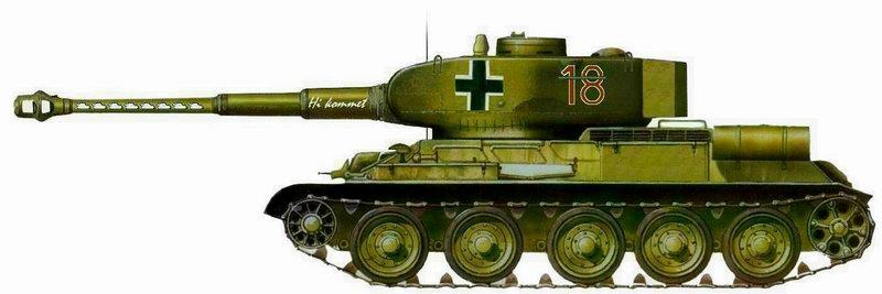 Le T34-85 Beute a canon 8.8cm allemand  (2012) T-34-810
