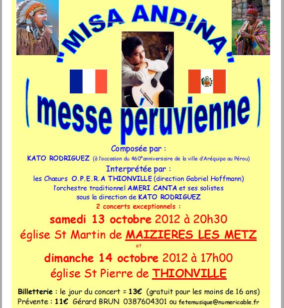 MISA ANDINA (messe péruvienne) les 13 et 14 pctobre 2012 Messe10