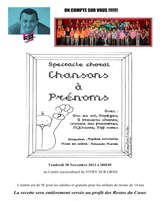 « RESTOS DU CoeŒUR »Vendredi 30 Novembre 2012 à 20H30' au Centre socioculturel de VITRY SUR ORNE Resto10
