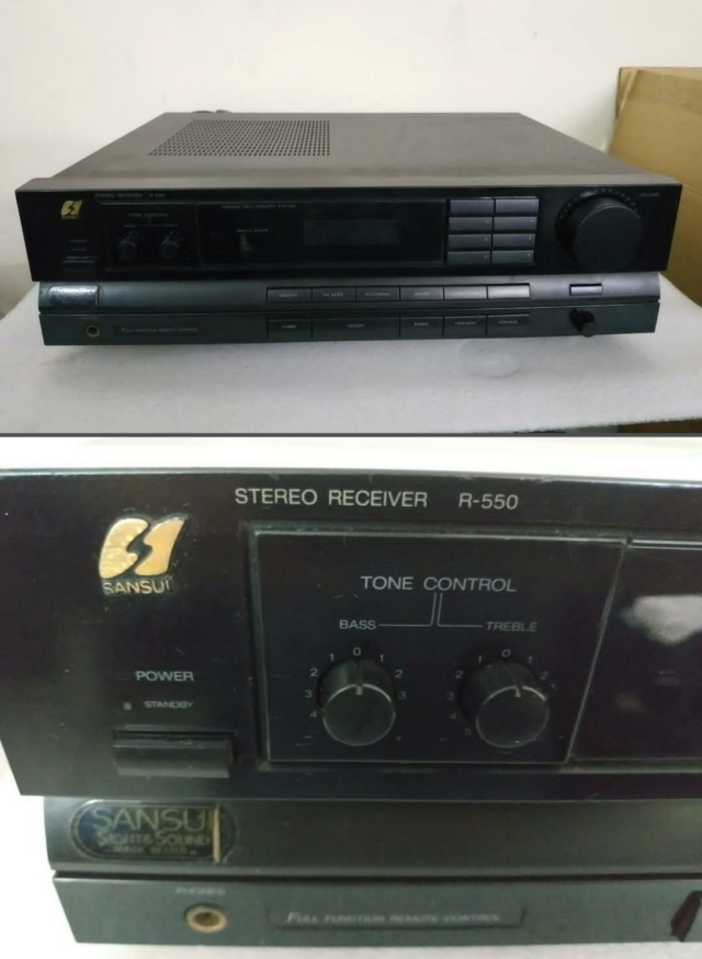 Sansui R550 stereo amp receiver Img_2046