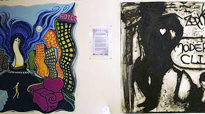 """Mural de Charly, tapado por una """"pintada"""" de Ishii. 002-10"""