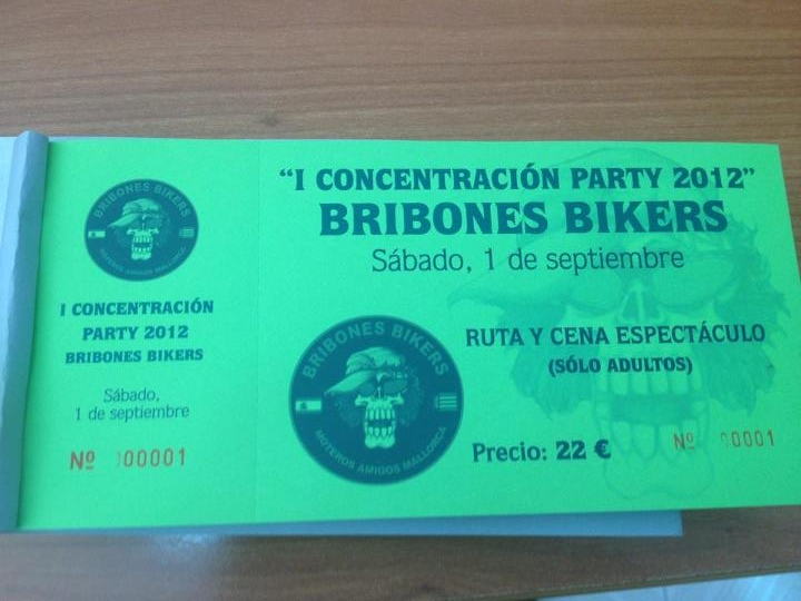 1ª CONCENTRACION PARTY 2012 Ticket10
