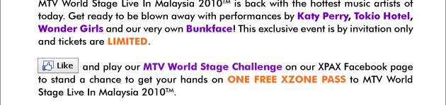 Get World Stage passes with XPax Promo_10