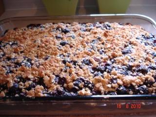 Gâteau garni aux bleuets Dsc05218
