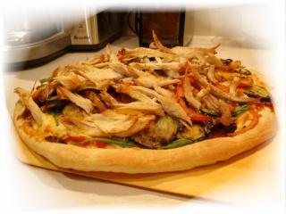 Pizza au dindon, aux légumes grillés et vinaigre balsamique Dsc05815