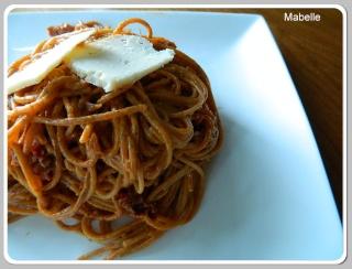 Spaghettini au fromage et au salami Spaghe10