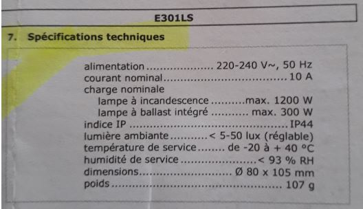 conseil électrique  (pose d'un capteur crépusculaire) Captu434