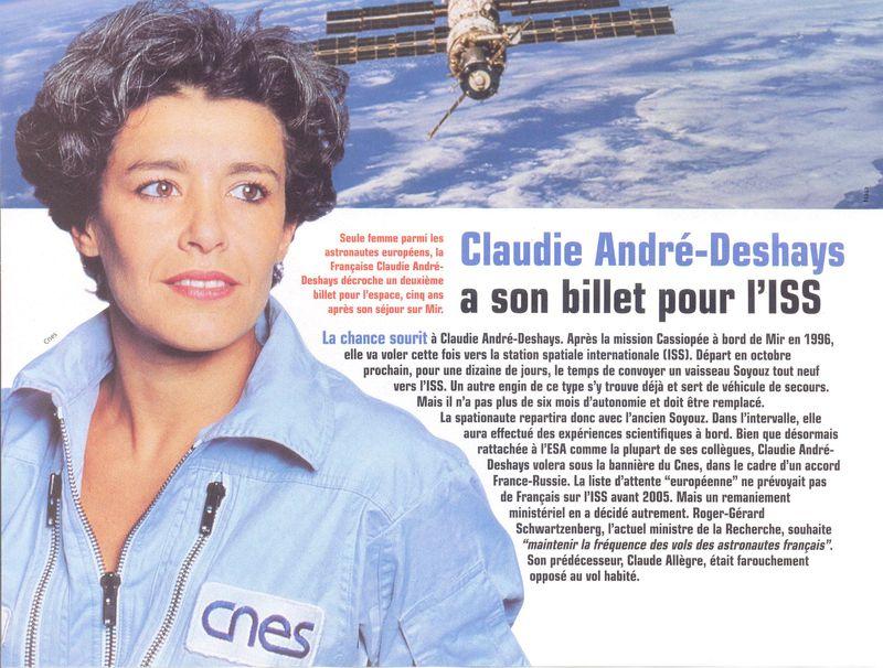 Claudie Haigneré - 1ère Française dans l'espace - Page 2 01020010