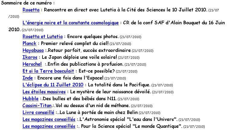 LES ASTRONEWS de planetastronomy.com Wincli22