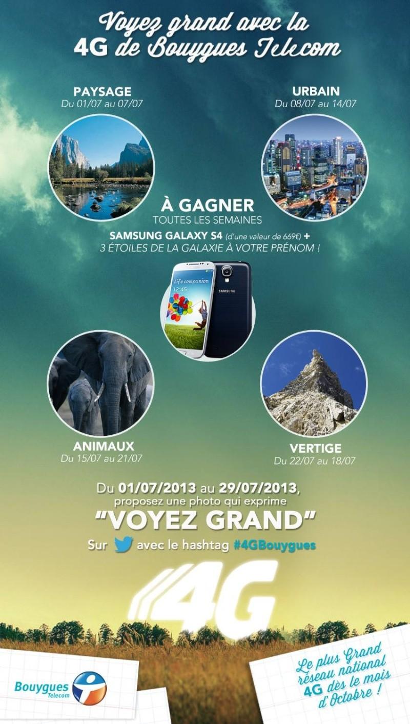 """Opération: """"Voyez Grand"""" avec la 4G de Bouygues Telecom 10521510"""