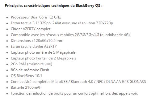 Après le Z10 et le Q10, le Q5 de blackberry bientôt chez Bouygues Telecom? Bbq5t11