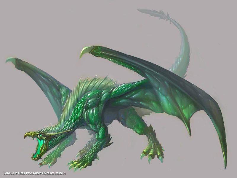 The Beastiary: Emerald Dragon Green_10