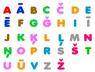 Учим латышский алфавит J10