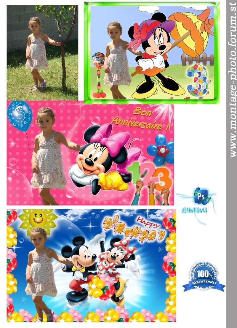 cartes anniversaire - Page 7 Minnie11