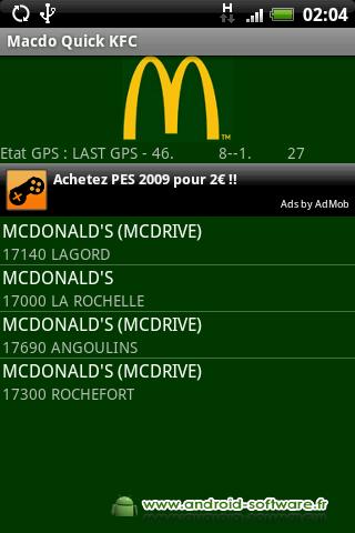 [SOFT] MACDO QUICK KFC FRANCE : Trouver un établissement près de vous [Gratuit] Macdoq10