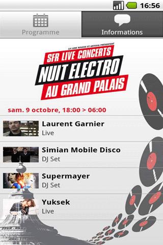 [SOFT] SFR LIVE CONCERTS 2010 : Guide officiel de la 2é Nuit Electro [Gratuit]  Sfr_li10