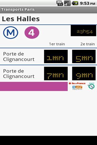 [SOFT] TRANSPORT PARIS : Ne rater plus votre métro [Gratuit]  Transp10