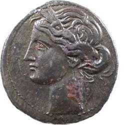 Zeugitane, statère de billon ou 1,5 shekel, Carthage, IVe-IIIe s. av. J.-C. T01_0010