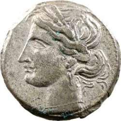 Zeugitane, statère de billon ou 1,5 shekel, Carthage, IVe-IIIe s. av. J.-C. T01_0011