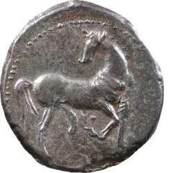 Zeugitane, statère de billon ou 1,5 shekel, Carthage, IVe-IIIe s. av. J.-C. T02_0010