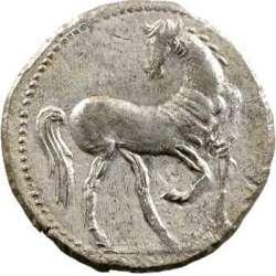 Zeugitane, statère de billon ou 1,5 shekel, Carthage, IVe-IIIe s. av. J.-C. T02_0011