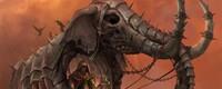 (Menes, éléphant de Cthonyak [Modifié], 200 vitalité ; 200 vitesse ; 100 dégâts ; Férocité : Les dégâts du joueur sont augmentés de 20% au premier tour)