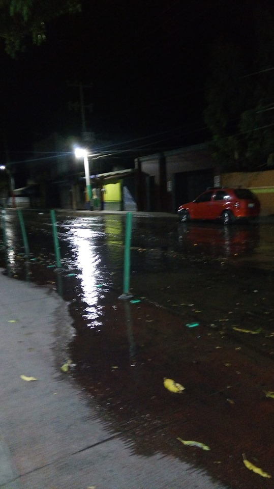 Water on streets in Ajijic Centro 60397210
