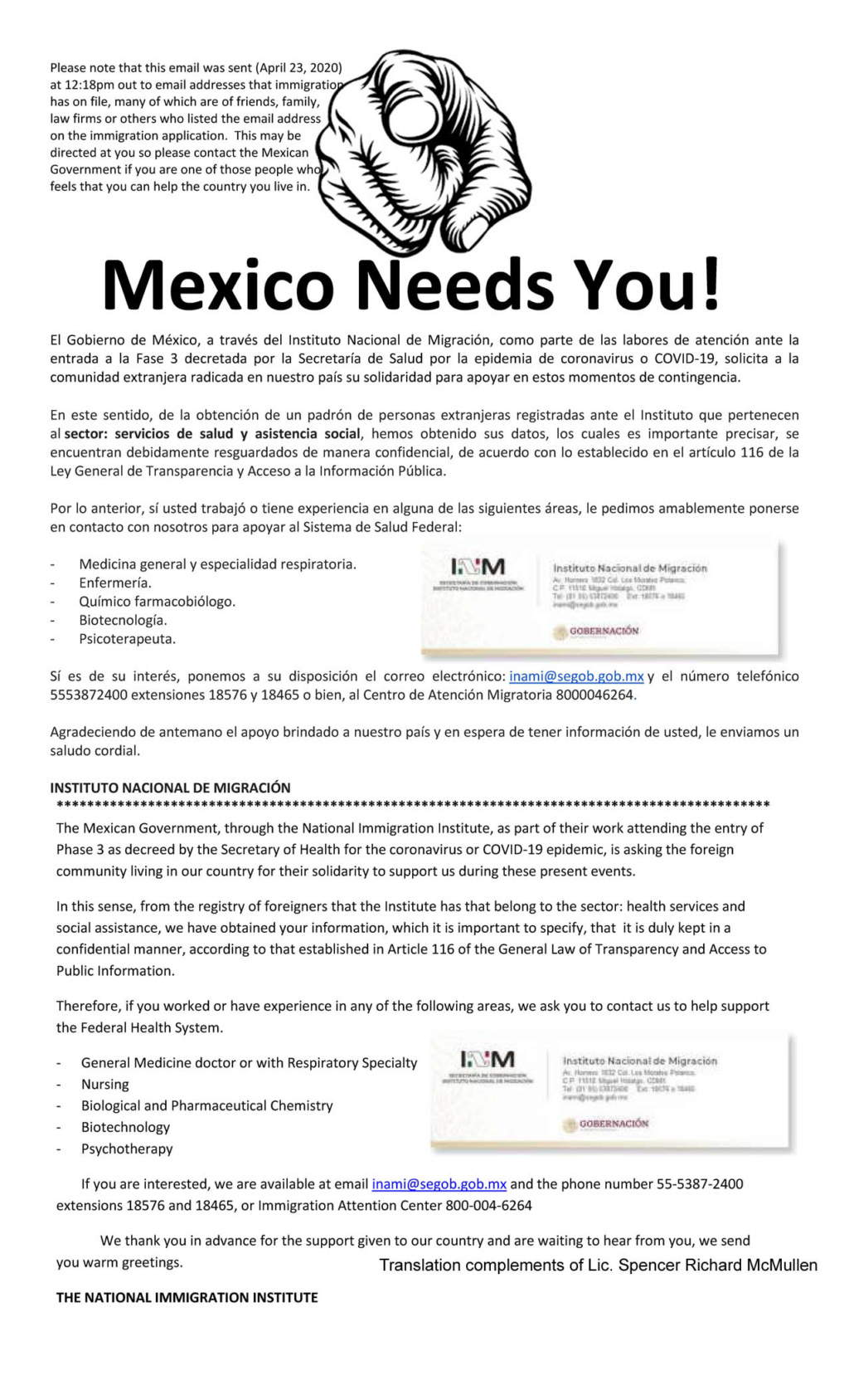 Mexico calling all foreign doctors, nurses, chemists and therapists living in Mexico Mexico10