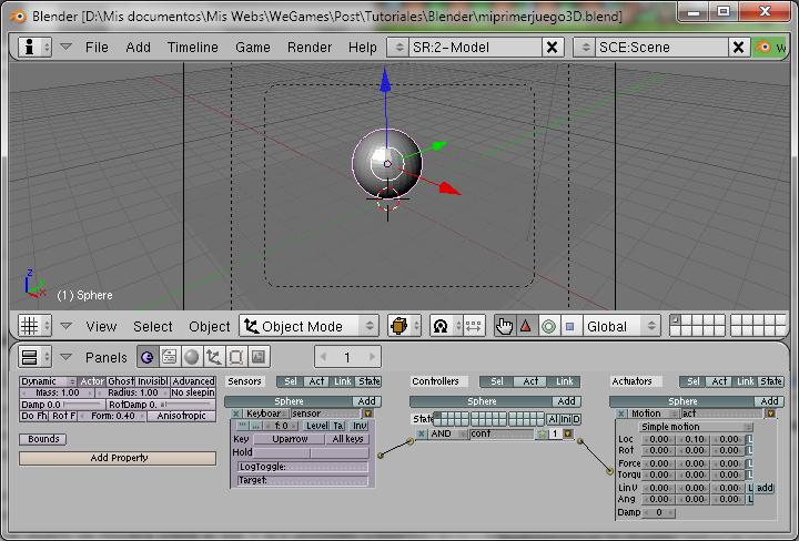 Blender Game Engine Parte 2 (Mi primer juego 3D) Blende15