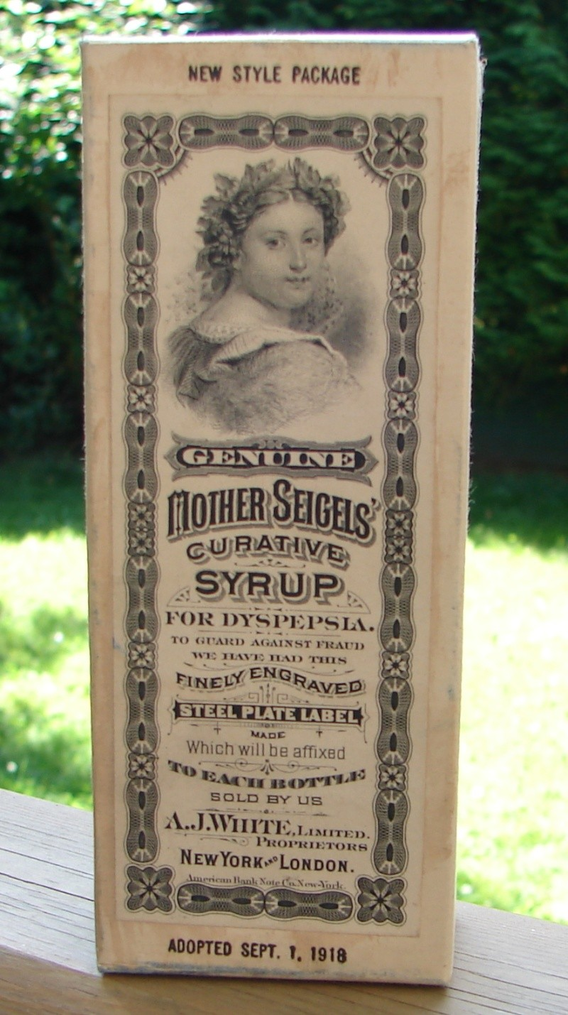 Mother Seigel's Curative Syrup: Médicament du Québec? Ajwhit12