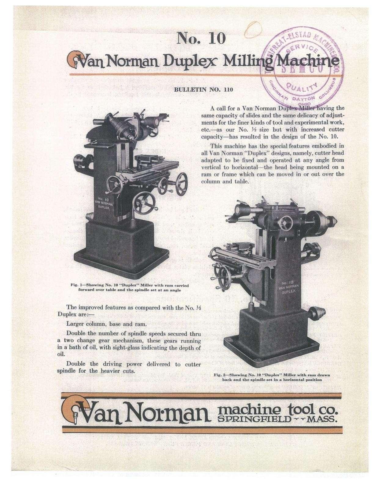 Van Norman N°10 Uw1410
